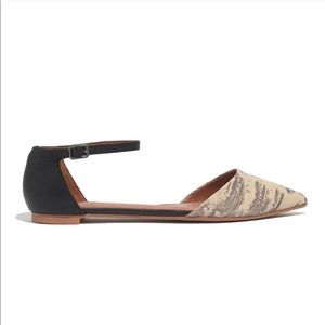 Madewell Beatrice ankle skinner pointed flats 7.5